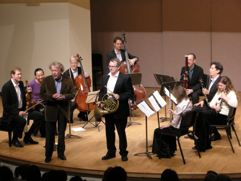 Anton with TSO First Chairs, hosting Music & Truffles-Mooredale Concerts, 2012